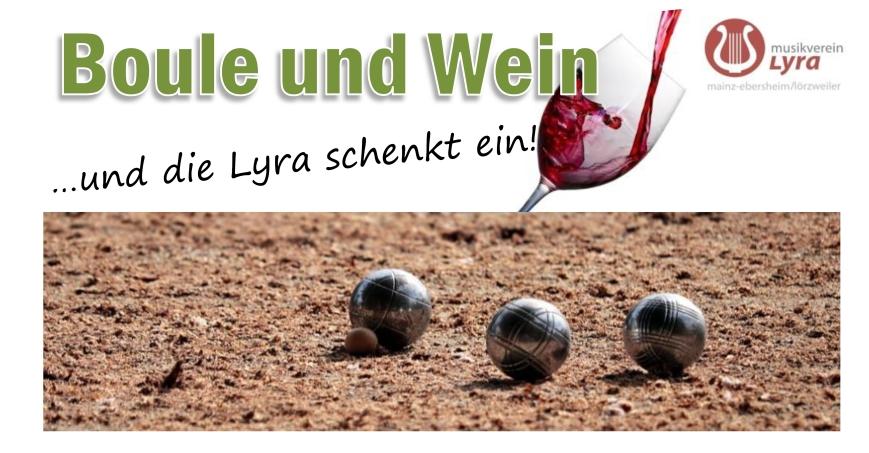 Plakat Boule und Wein quer FB
